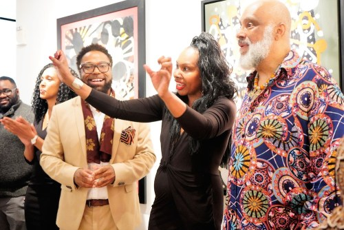 photos by Stella Magloire 223 - Event Recap: Danny Simmons Alone Together Private Reception at George Billis Gallery @ogilvy @rush_art @miolowinegroup_ #ShinjuWhisky #AloneTogether
