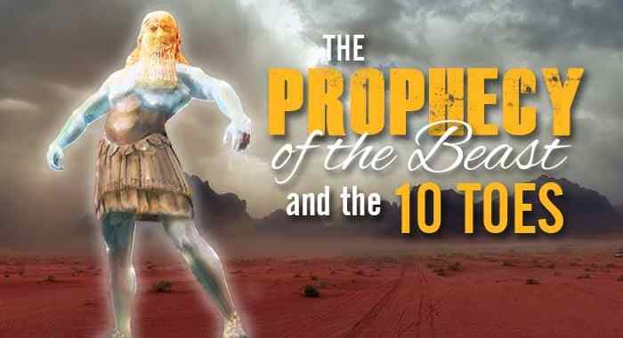 The 10 toes metal statue prophecy in Daniel