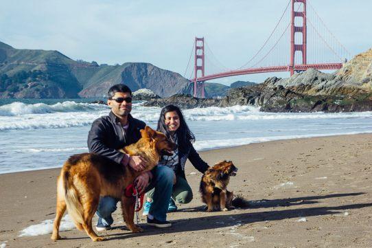 Baker Beach, dog friendly beach in San Francisco, San Francisco presidio