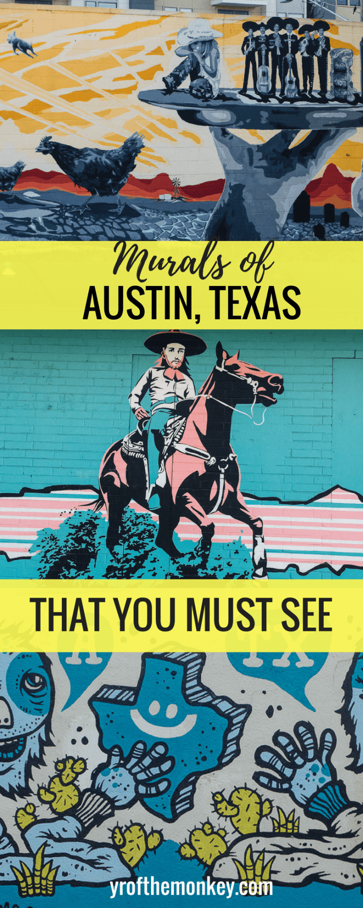 Austin murals guide is your one stop shop to all the popular instagrammable murals and street art of Austin, Texas, USA. Links to exact mural locations are included. Pin this to your street art or USA board. A complete treat for street art lovers! #streetart #murals #austin #texas #usa #streetartguide