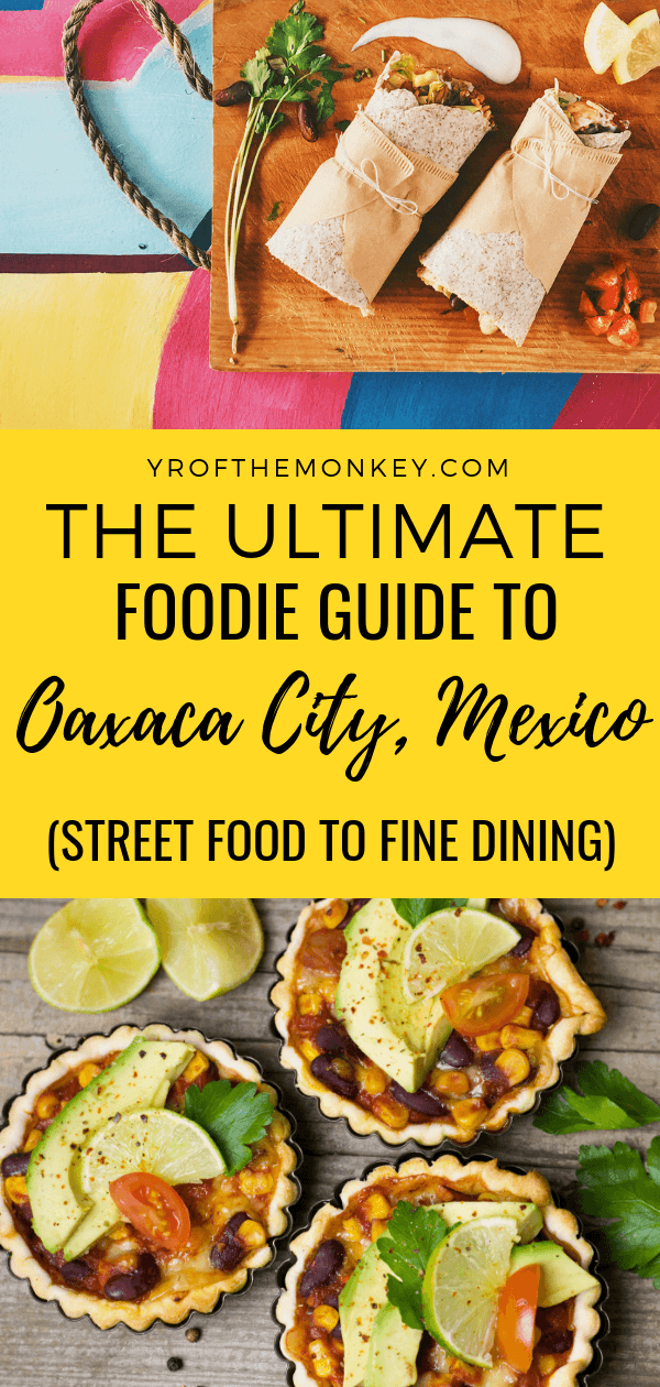 Read this Oaxacan cuisine post for the ultimate Oaxaca, Mexico food guide to Mexico's food capital which has dining options for every budget and palate. Fine dining, cafes, markets, moles, chocolates, cheese and so much more to discover with yummy photos. Oaxaca food guide| Oaxaca street food| Mexico travel guide| Mexico vacation| Foodie guide| #oaxaca #mexico #foodieguide #mexicanfood