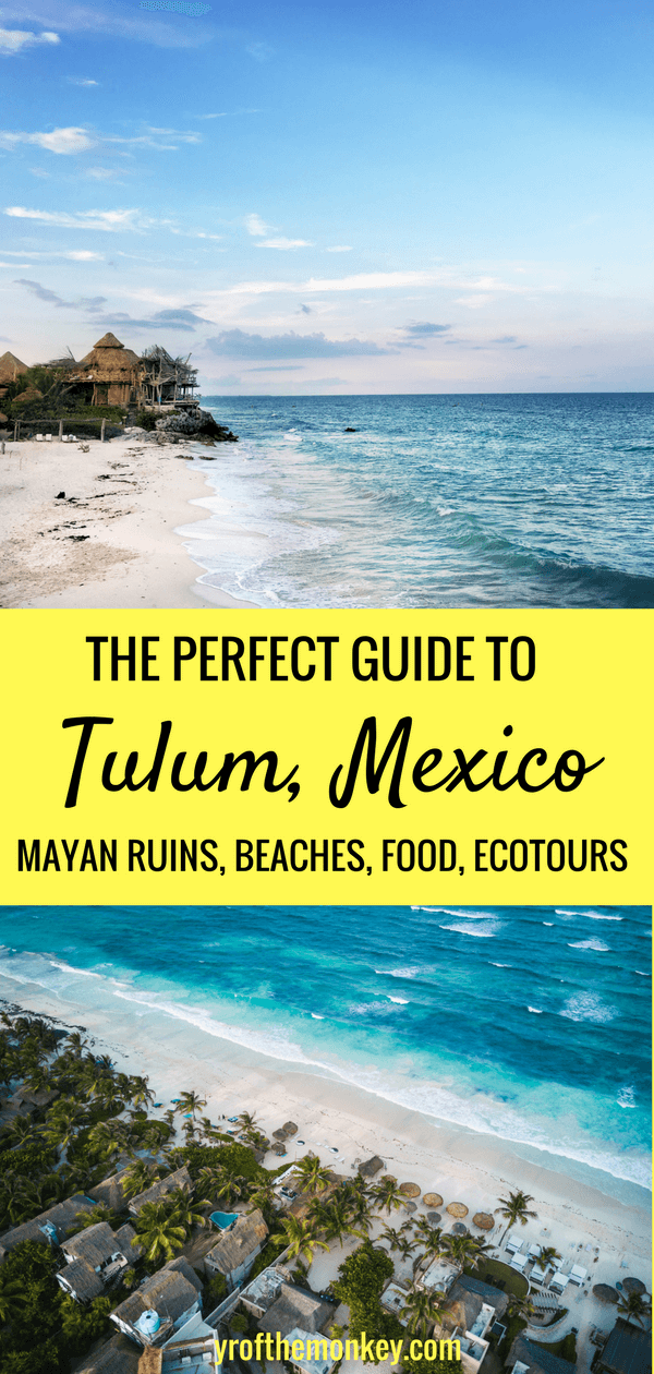 Explore Tulum, the gem of the Mayan Riviera, Yucatan Peninsula, Mexico with this handy guide that highlights the best attractions, beaches, Mayan ruins and of course the best local spots to eat and drink. Don't miss this Two days in Tulum guide, pin it to your Mexico board now! #tulum #rivieramaya #mexico #mexicotravel #yucatanpeninsula #summervacation