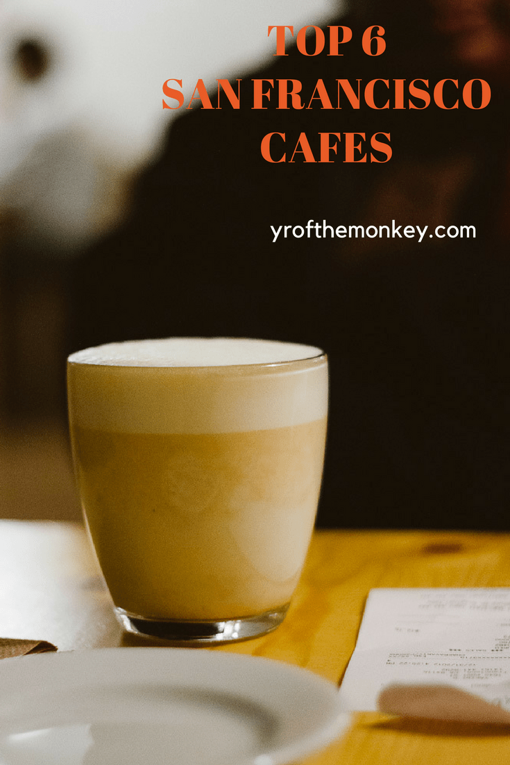 A local's guide to best coffee shops in San Francisco, California, USA. These top 6 SF cafes are a must visit for breakfast, lunch and even dinner. Pin this list of cute cafes in San Francisco to your California or foodie board and visit them when you are in San Francisco #coffee #cafe #foodguide #sanfrancisco #foodies #california