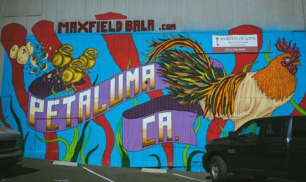 Mural in Petaluma, California