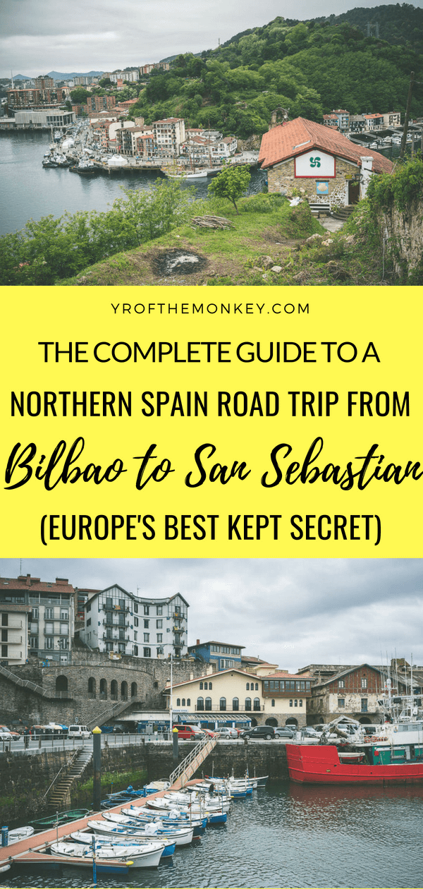 A Spain road trip along the northern Atlantic coast from Bilbao to San Sebastian is not only crazy scenic but also the most underrated drive in Europe. Read all about the 7 must visit Basque towns to include in your Northern Spain itinerary on this epic Europe road trip and pin it to your Europe or Spain board! #spain #basquecountry #europe #roadtrip #bilbao #sansebastian