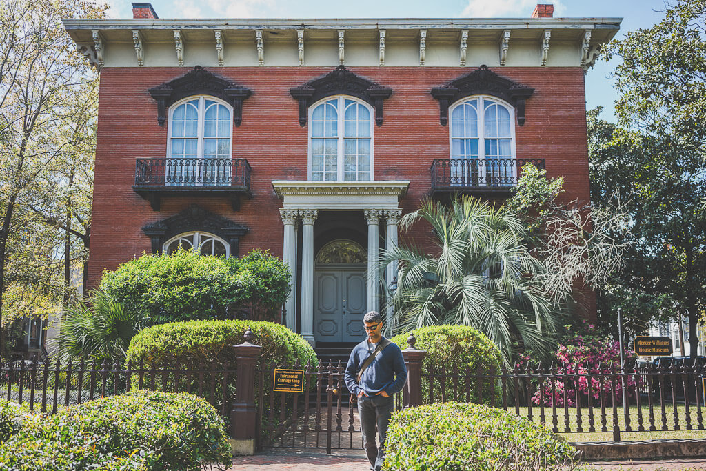 Mercer-Williams House Museum in Savannah's historic district