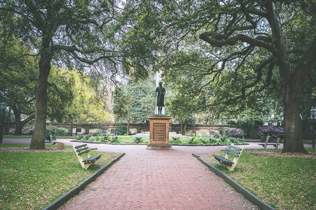 Parks and Gardens of Charleston, Washington Square park