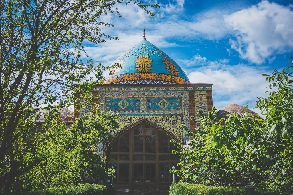Blue Mosque, a Persian mosque in Yerevan, Armenia
