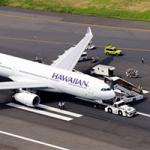 ハワイアン航空機は羽田離陸後、油圧系統トラブルで引き返し緊急着陸・タイヤパンク