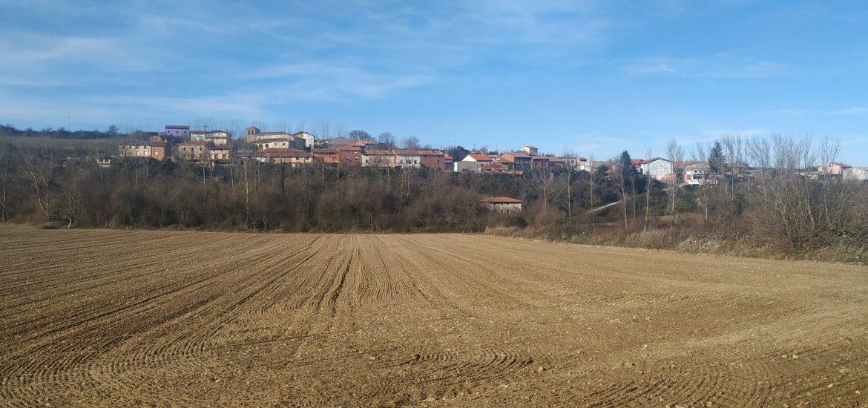 Quintanar de la Rioja desde el campo