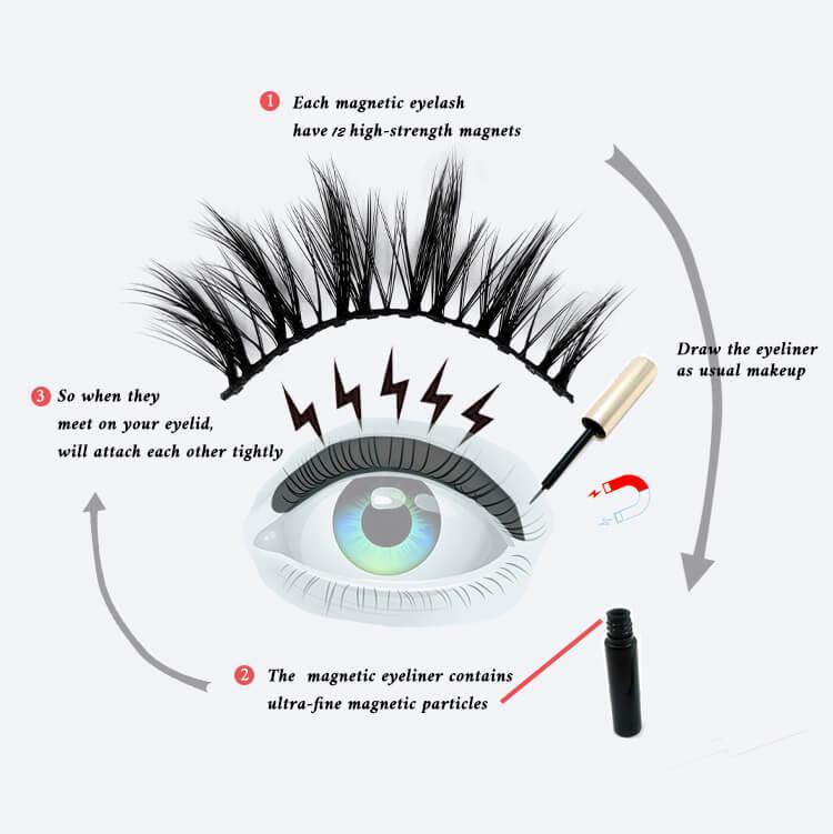 magnetic lash glue pen