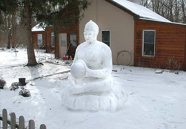 The buddha's cold smile