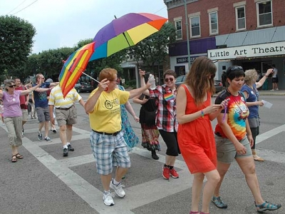 Pride hits the pavement