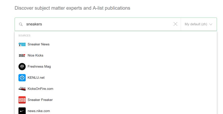 Feedly 界面:於 Feedly 輸入關鍵字搜尋消息內源