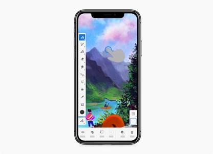 iPhone 版 Fresco;作品由 Jinjin Sun 創作。