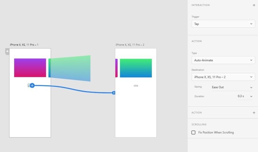 透過 3D 變形再加上 Auto-Animate,可造出特別的轉場效果。