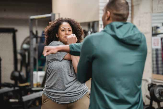 physical activity with a personal trainer