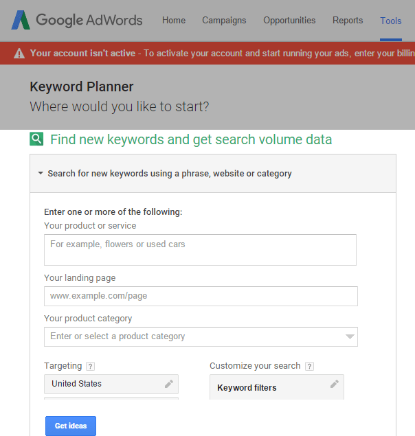 Keyword Planner – Google AdWords1