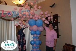 Baby Gender Reveal Girl Popped Balloon