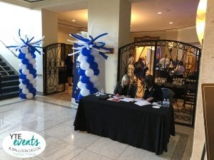 Balloon Columns with Firecracker Toppers for Lightning Event Tampa Marriott