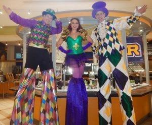Mardi Gras Stilt Walking Entertainment Tampa Florida