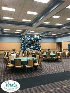 Walden University Balloon Decorations full room view