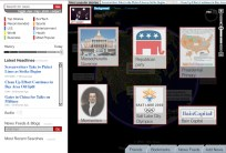 We can click behind him, or use the depth slider on the right, to view some of the topics that are related to the man