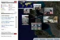 Selecting the image gallery gives us a selection of photos related to stories about the oil spill