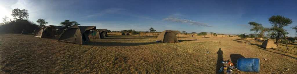 Serengeti camp panorama