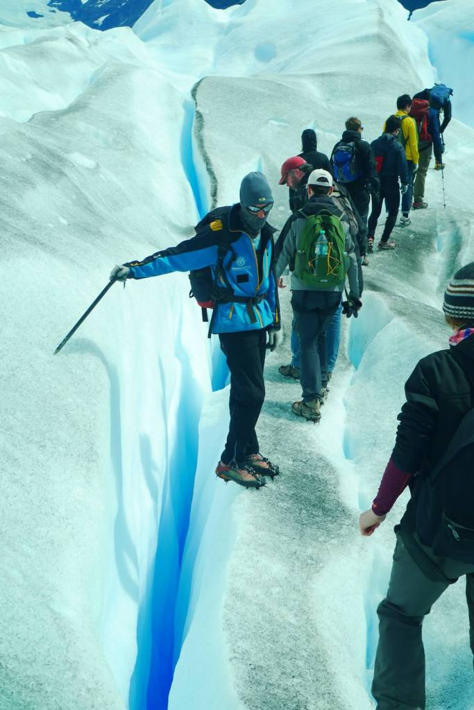 Perito Moreno ice crevice, big ice trekking tour Perito Moreno