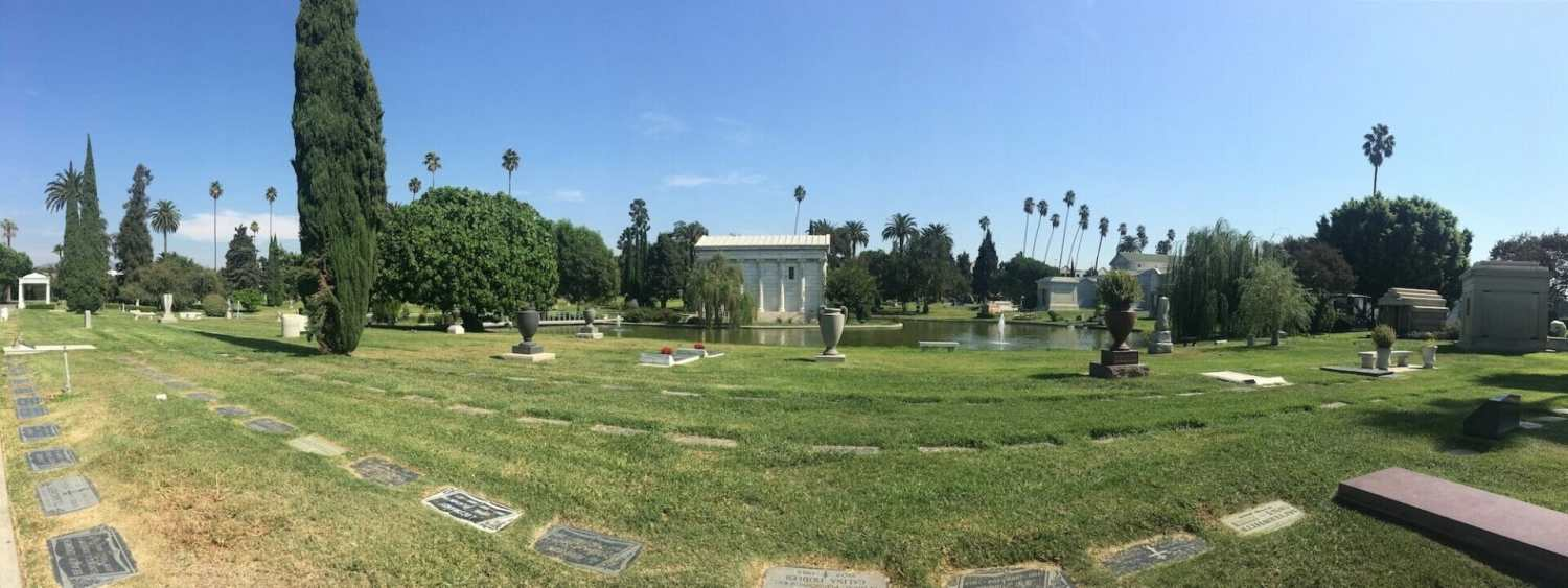 William clark junior mausoleum, garden of legends, hollywood forever cemetery section 8