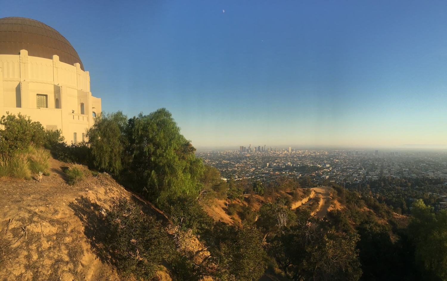Downtown L.A. Griffith observatory