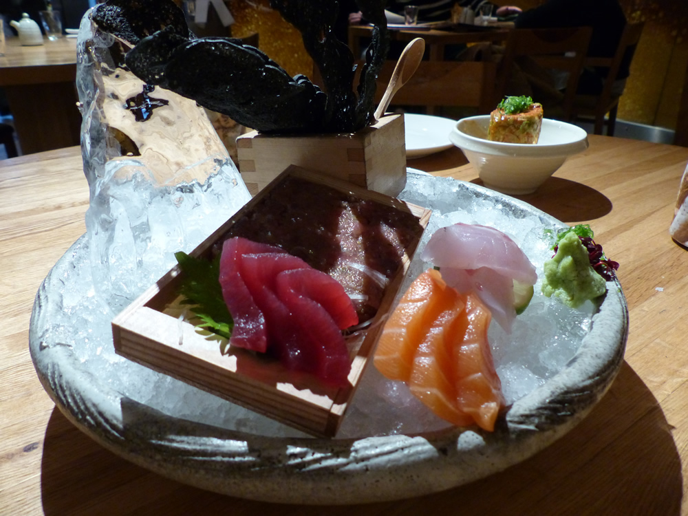 Selection of sashimi at Roka Charlotte Street