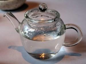 glass teapot at The Ledbury