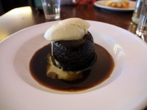 sticky toffee pudding at hawksmoor