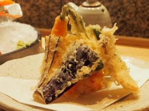 vegetable tempura at Roka Charlotte Street