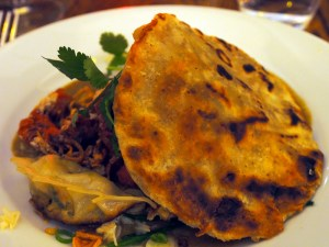 laksa, crab, gyoza, coconut & mustard seed flat bread | Yvanne Teo