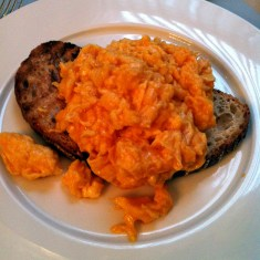scrambled eggs on toast at Berners Tavern | ytTastes | Yvanne Teo