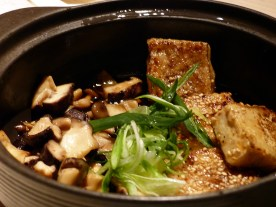 tofu with mushrooms at Sake no Hana | ytTastes | Yvanne Teo