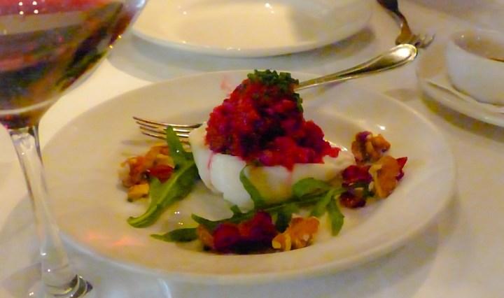 Burrata with beets, horseradish & mizuna | Osteria Mozza | ytTastes | Yvanne Teo