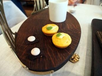 Mushroom tea muffin and canape Pollen St Social |ytTastes | Yvanne Teo
