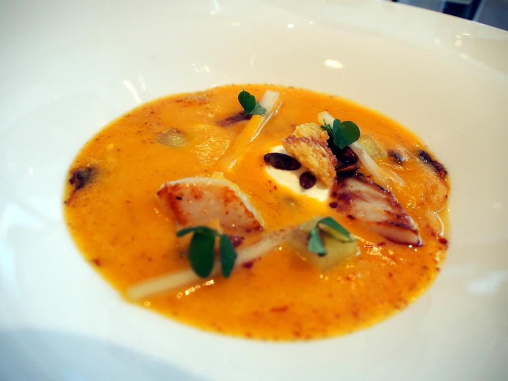 Pumpkin & Parmesan Soup at Pollen St Social | ytTastes | Yvanne Teo