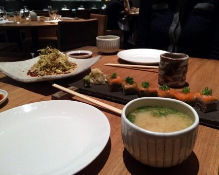 iceberg salada no wafu and sake oshisushi at Roka Aldwych | ytTastes | Yvanne Teo