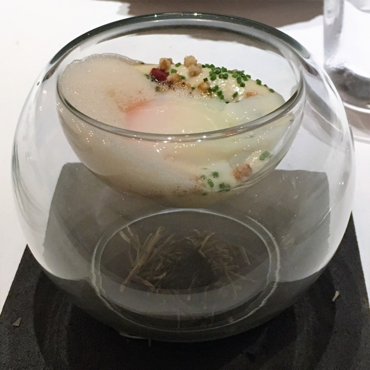 Rosemary Smoked Organic Egg | Odette Singapore