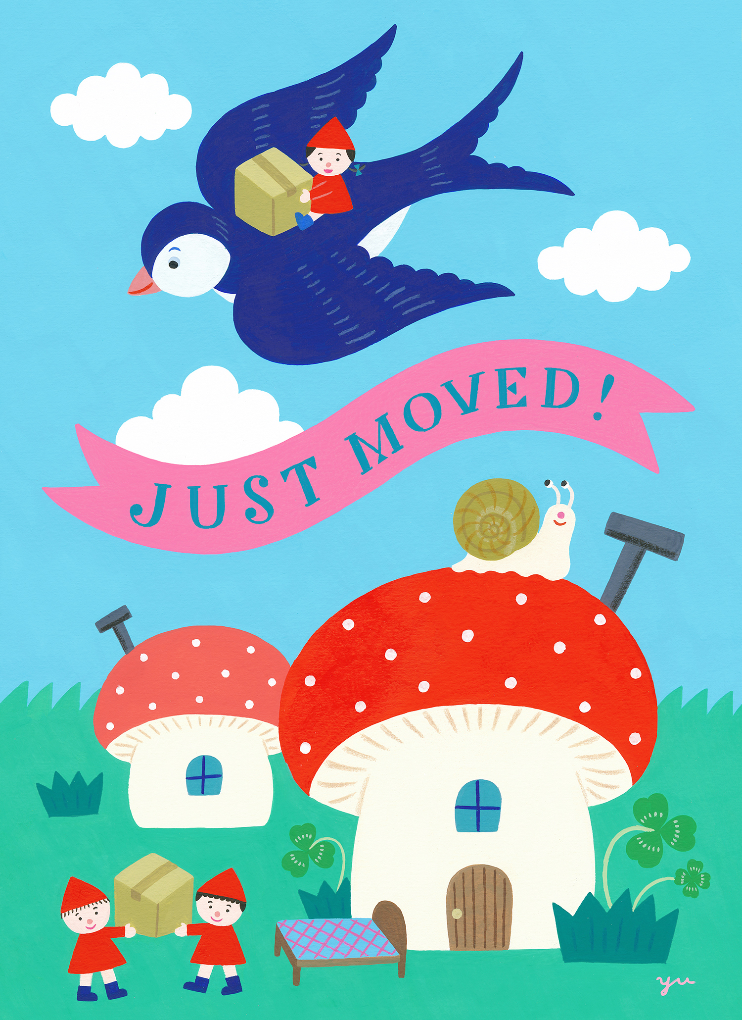 「JUST MOVED! 転居のおしらせ」オリジナル 2021