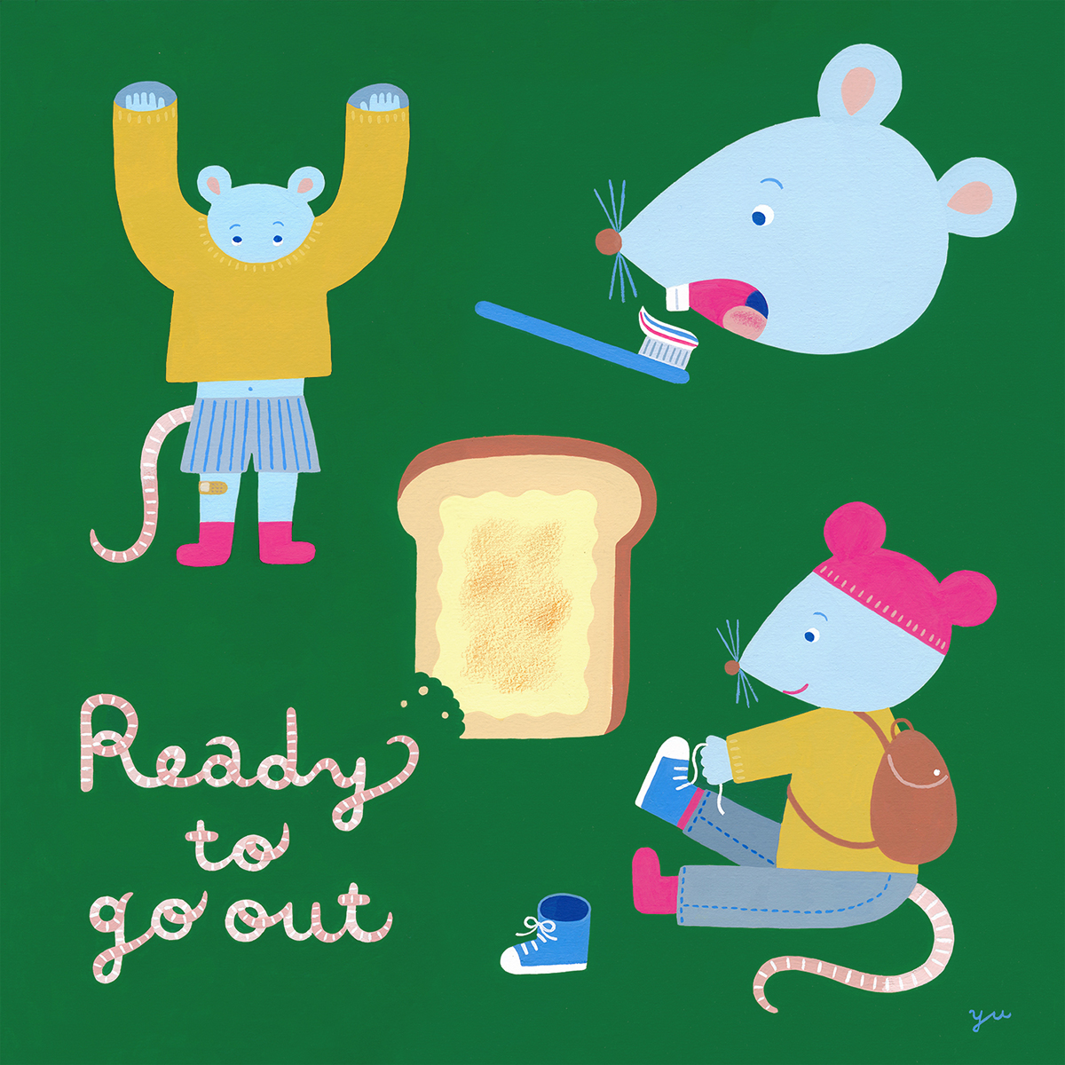 「Ready To Go Out おでかけのじゅんび」(「12人の贈り物展2019」展示作品)