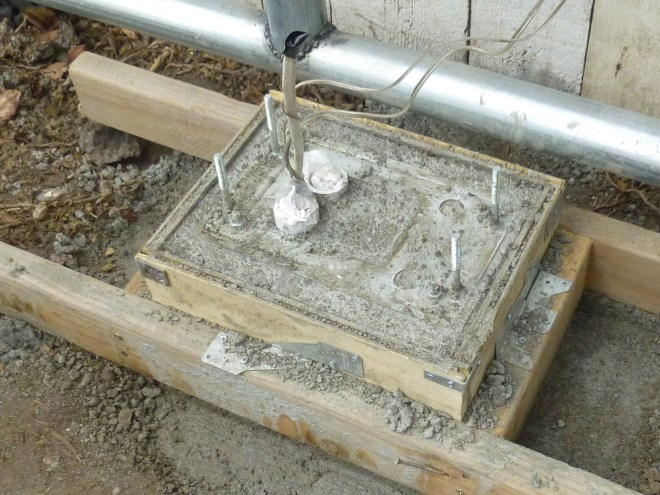 Concrete mix started curling in the following hours. Wait at least one day before removing the molds.