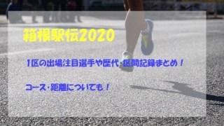 箱根駅伝2020,1区,出場注目選手,歴代記録,区間記録,コース,距離