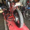 FTR223 オフロードカフェレーサー計画。タイヤ交換〜AIキャンセル