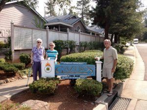 The Gazebo's Firewise Community committee members (left to right) Dot Kain, Terese Baker and Hugh Talman.